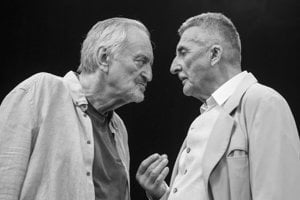 Starí majstri Milan Lasica a Martin Huba.