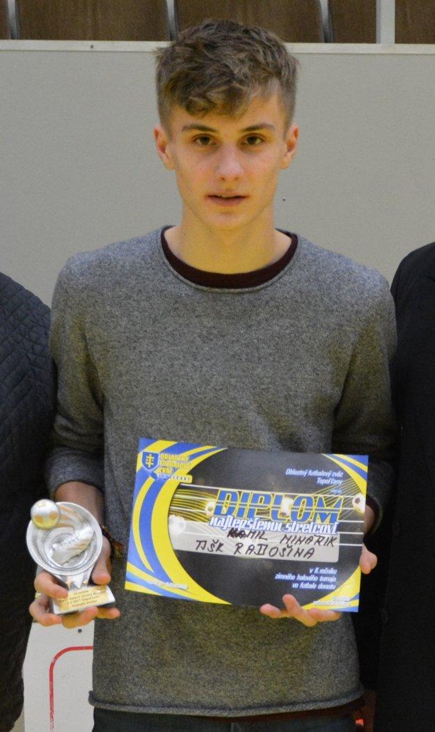 Najlepší strelec turnaja - Kamil Minárik (TJ-ŠK Radošina).