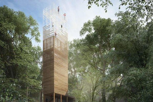 Vizualizícia veže na Dubni.