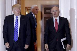 Donald Trump a Andy Puzder.