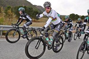 Peter Sagan na sústredení s tímom Bora-Hansgrohe v Sierra Nevade.