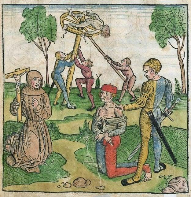 Stredoveké tresty z tzv. Bamberského trestného poriadku (Bambergische Peinliche Halsgerichtsordnung - Constitutio Criminalis Bambergensis) z roku 1507.