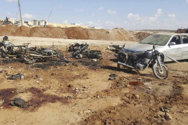 Počet obetí útoku v blízkosti mesta al-Báb stúpol na 60.