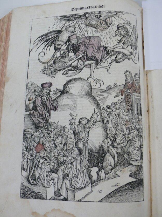 Ilustrácia, na ktorej démon berie reformátorov do pekla.