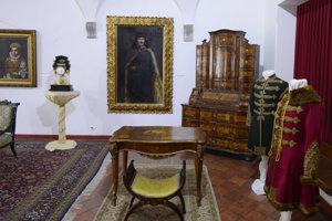 Časť expozície venovaná Františkovi II. Rákocimu.