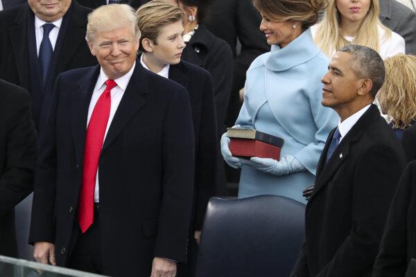 Trump a Obama ešte počas Trumpovej inaugurácie.