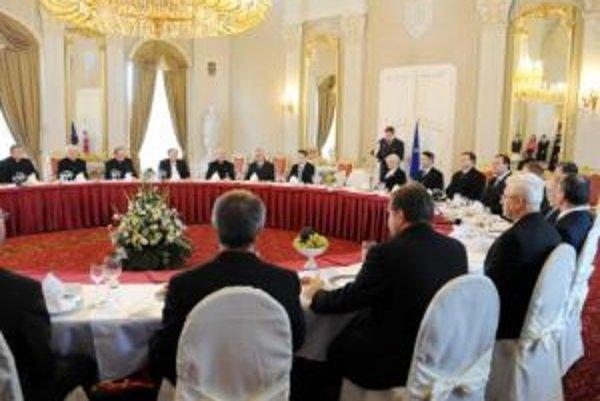 Stretnutie s predstaviteľmi cirkví a náboženských spoločností.