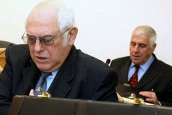 Exposlanec Gabriel Karlin (vľavo) a bývalý šéf úradu Banskobystrického samosprávneho kraja Milan Mráz.