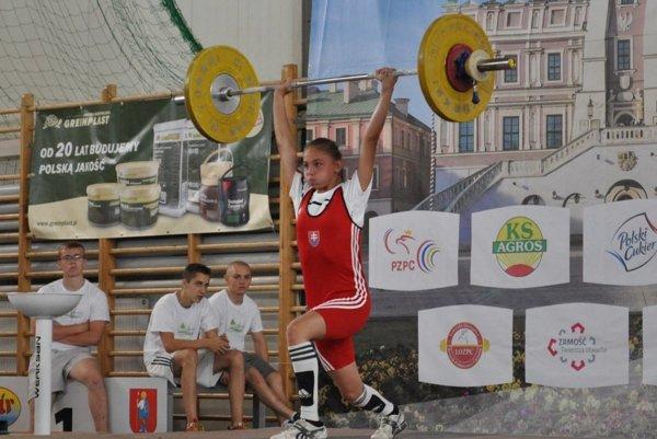 Dominika Brodová v reprezentačnom drese.