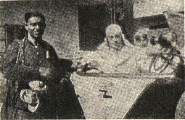 Karol Stollmann pri štarte v Tatranskej Lomnici v roku 1931.