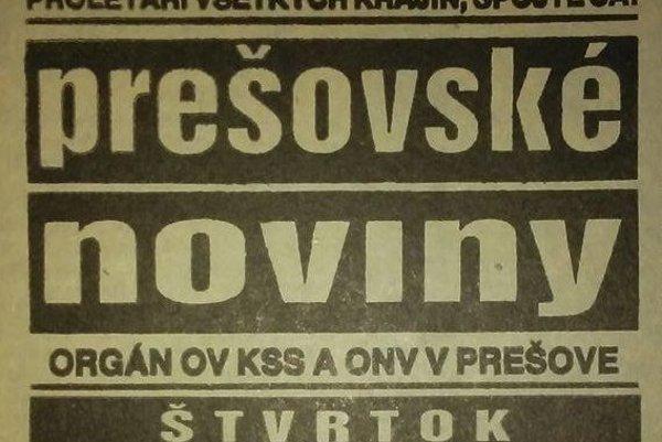 Prešovské noviny z marca pred 30 rokmi.