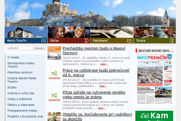 Web mesta Trenčín.