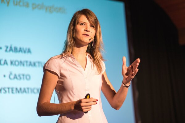 Lýdia Machová na prednáške TEDx v Trenčíne