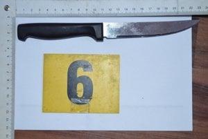 Nôž s dvanásťcentimetrovou čepeľou.