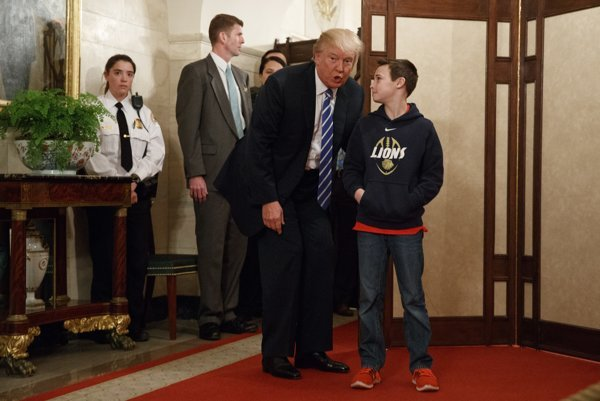 Donald Trump a desaťročný Jack Cornish.