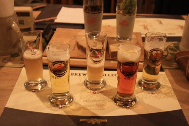 Ochutnávka v pivovare Hirsch.