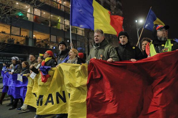 Kvôli reforme súdnictva sa v Rumunsku protestovalo.