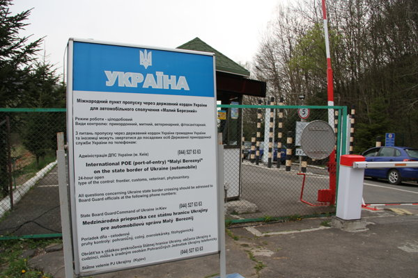 Hraničný priechod Ukrajiny so Slovenskom.