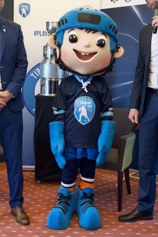 Na snímke maskot hokejovej Playoff počas tlačovej konferencie hokejovej TIPSPORT LIGY pred začiatkom Playoff.