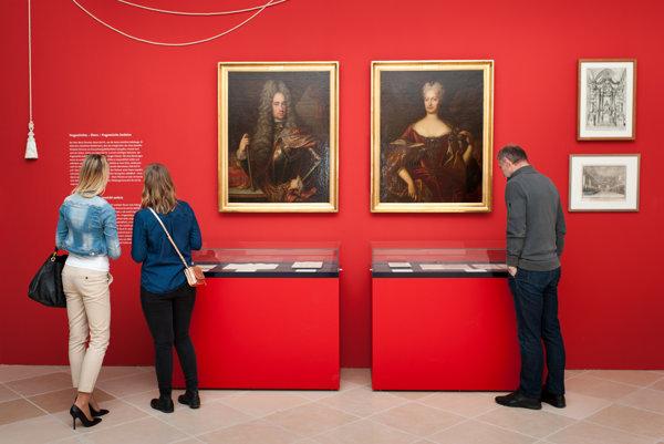 Výstava k výročiu Márie Terézie v Schloss Hofe.