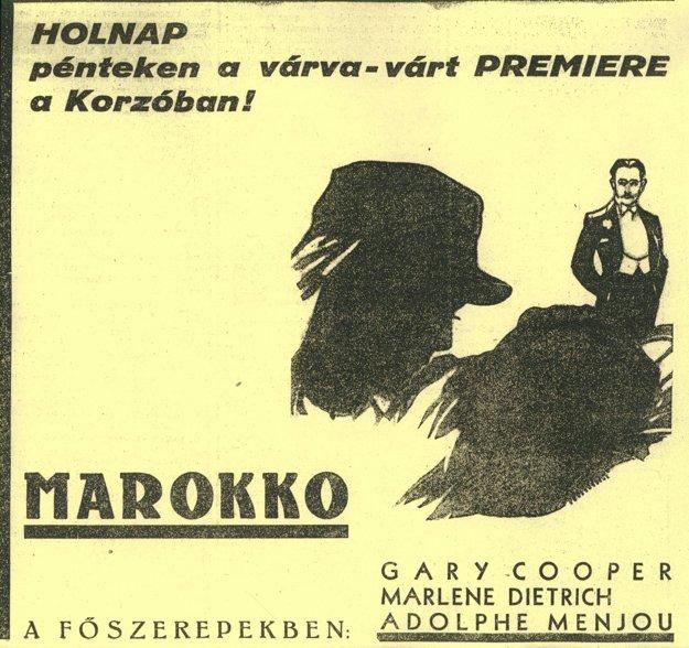 Pozvánka na premiéru filmu Maroko.