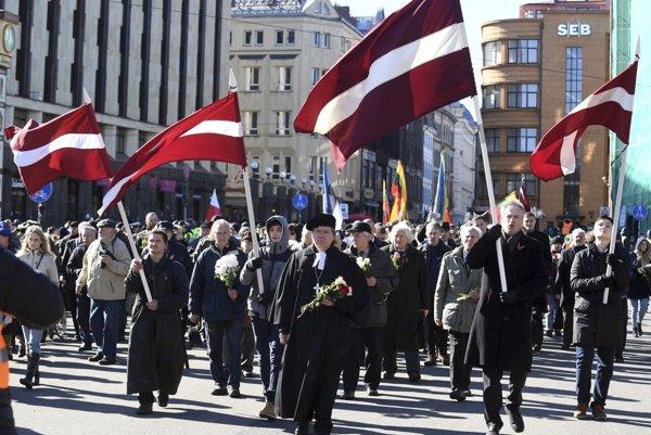 Príslušníci Lotyšskej légie síl SS.