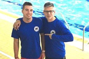 Branislav Hakel (vpravo) a Peter Hrinda zvíťazili v štafete.