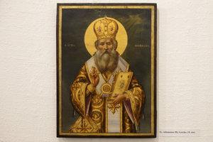 Ikona Sv. Athanasios III, Grécko, 19. storočie.