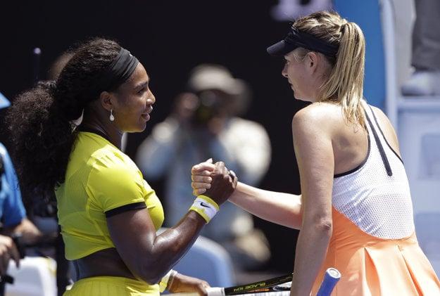 Maria Šarapovová so Serenou Williamsovou.