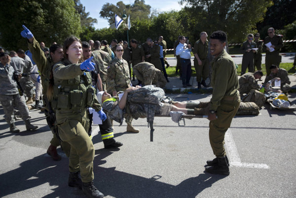Cvičenie izraelských ozbrojených síl.