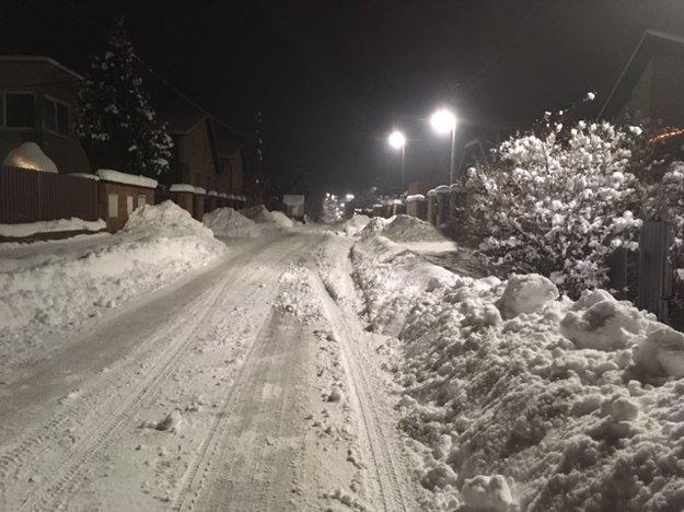 Foto zo starostovho mobilu. Takto pekne bolo v zime vidno na Pereši.