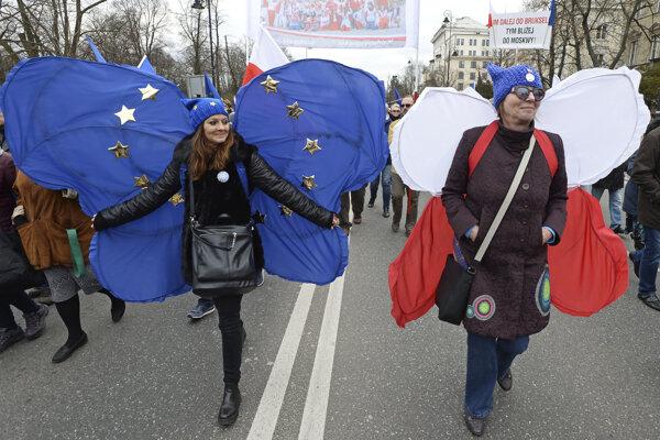 Pochod na podporu Európskej únie.