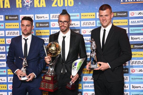 Traja najlepší futbalisti roka.
