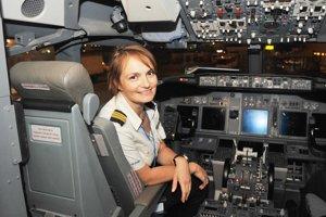 Najťažšie bolo presadiť sa, tvrdí pilotka Andrea Sabol. Kapitánkou sa stala po jedenástich rokoch lietania.