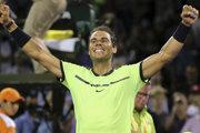 Rafael Nadal sa raduje po výhre nad Jackom Sockom.