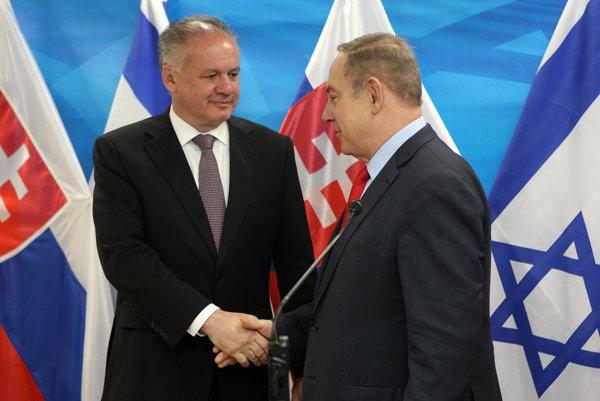 Andrej Kiska s izraelským premiérom Benjaminom Netanjahuom.