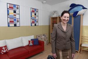 Riaditeľka Centra sociálnych služieb Domino Iveta Lauková.