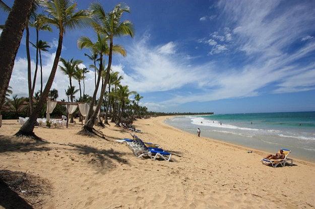Pláž pri Punta Cana.