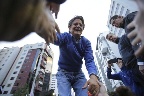 Kozvervatívny kandidát na prezidenta Ekvádoru Guillermo Lasso.