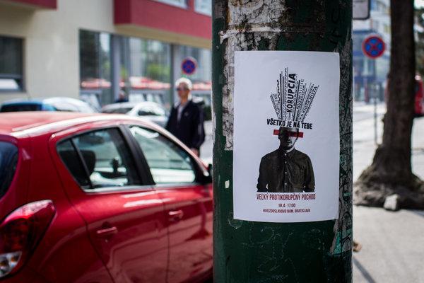 Pozvánka na Veľký protikorupčný pochod v Bratislave.