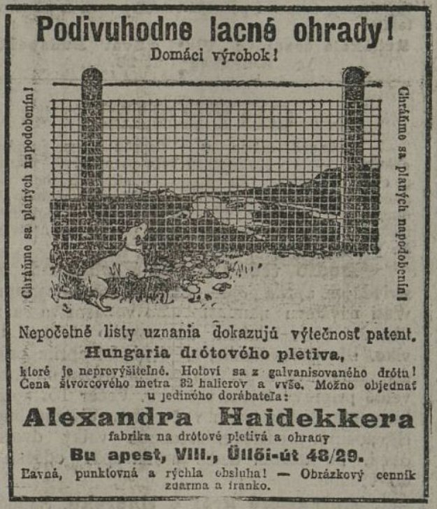 Slovenské noviny z 15. 3. 1914