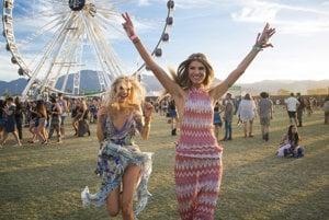 Účastníčky festivalu Coachella