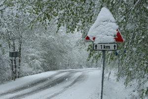Cesta medzi Senohradom a Pliešovcami.