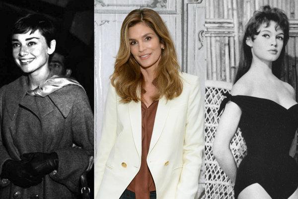 Audrey Hepburn, Cindy Crawford, Brigitte Bardot