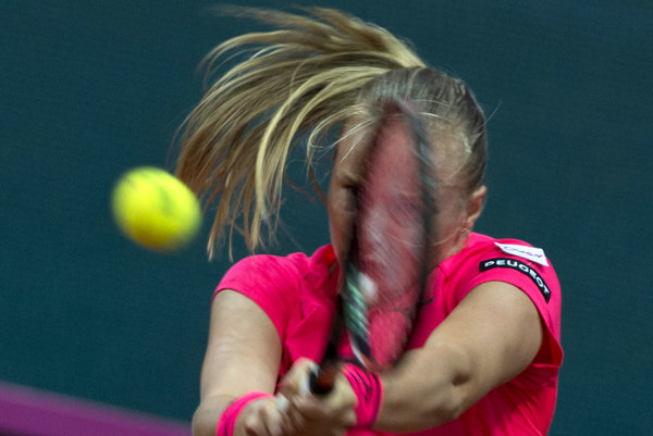 Na snímke slovenská tenistka Rebecca Šramková - ilustračná fotografia.