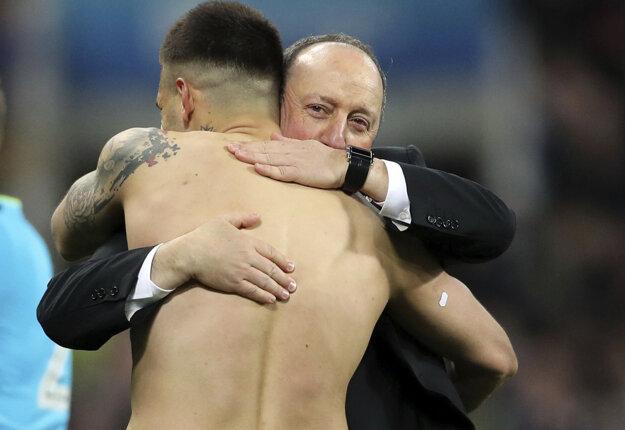 Rafael Benitez prežíval veľkú radosť.