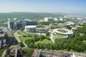 Takto by prestavala areál bývalej vojenskej nemocnice firma Eset.
