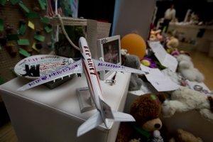 Miniatúra malajzijského lietadla.