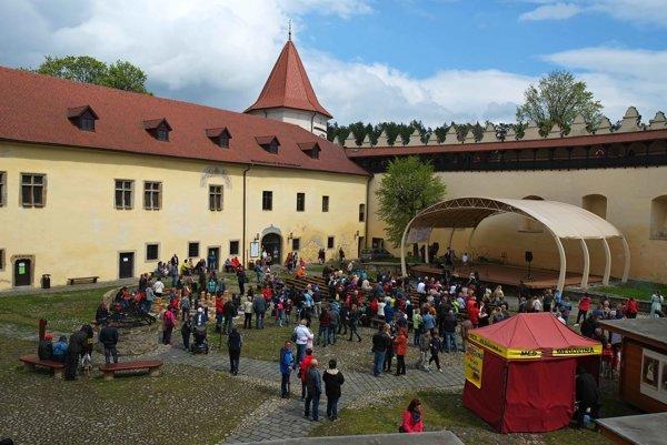 Kežmarský hrad. Chystá sa na Noc literatúry.