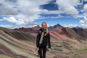 Natália Pavlovičová má plán precestovať celú zemeguľu. Táto fotografia vznika v Ausangate v Peru.